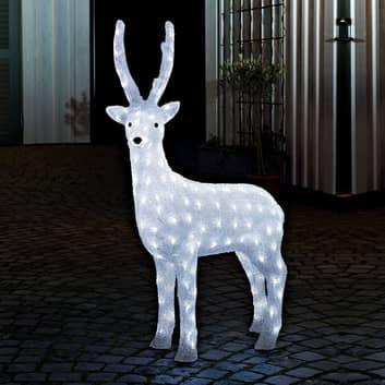 Stojący renifer Zewn lampa deko LED z transfor zew
