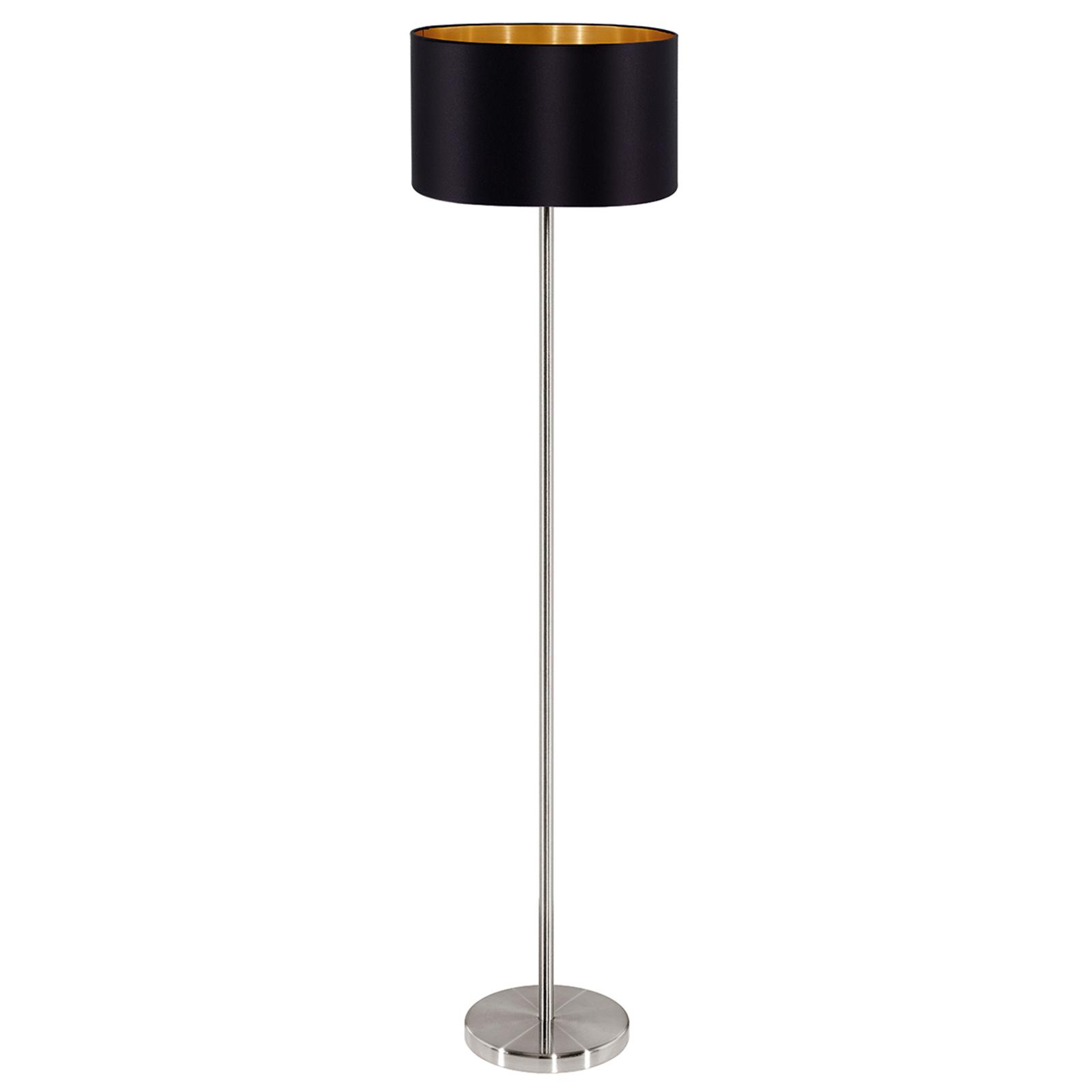 Elegante lámpara de pie textil Maserlo