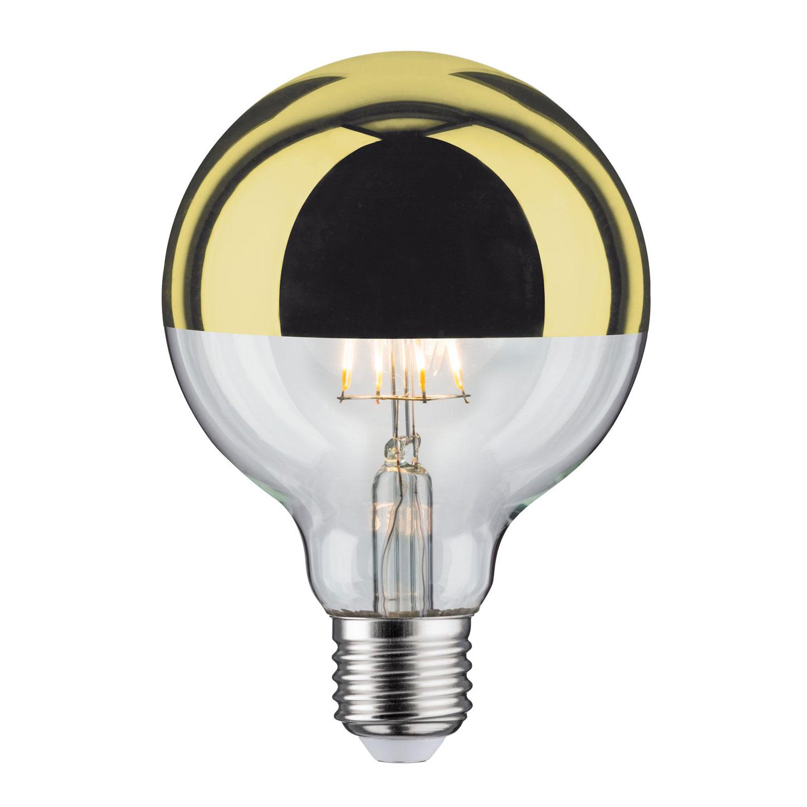 LED-Lampe E27 827 6,5W Kopfspiegel gold
