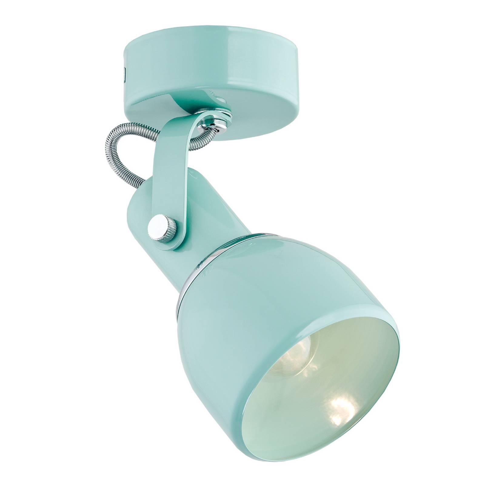 EULUNA Stropní reflektor Fiord, jeden zdroj mátově zelený