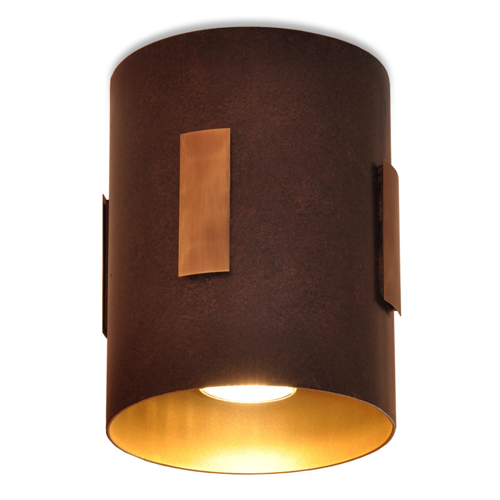 Menzel Solo plafondlamp bruin/zwart/goud