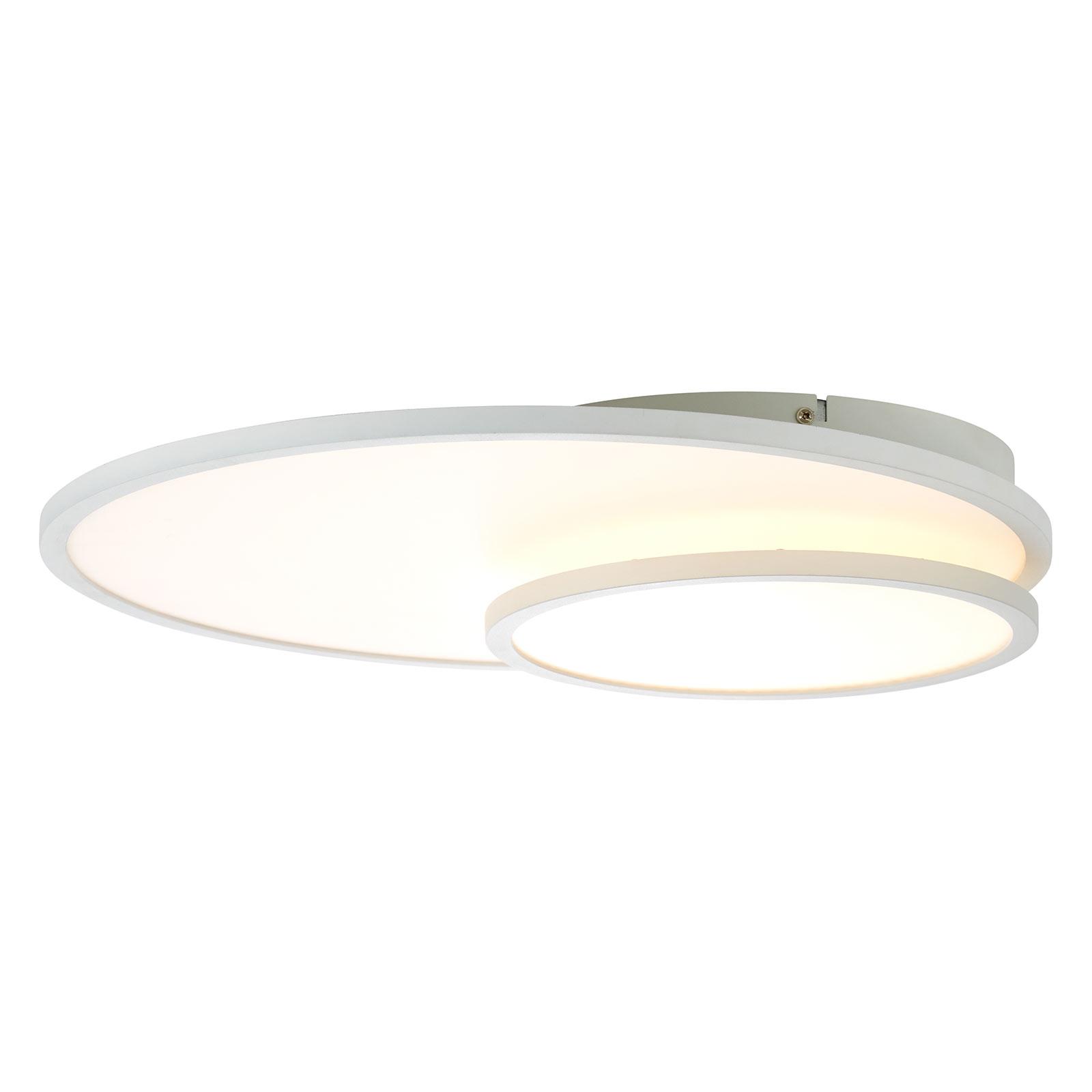 LED-taklampe Bility, rund, hvit ramme