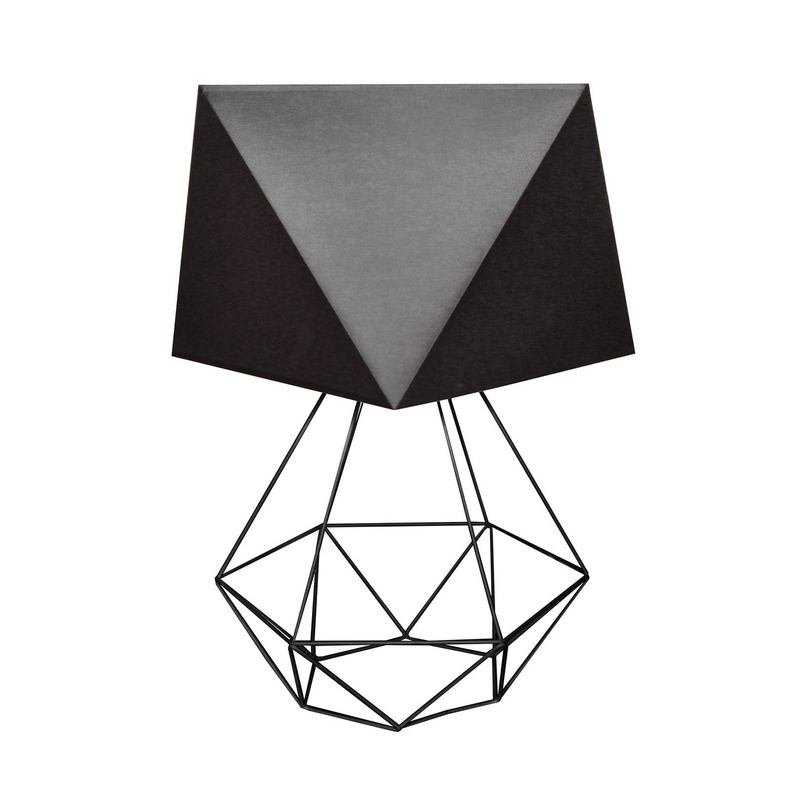 Tischleuchte Karo mit Käfigfuß Höhe 57cm schwarz
