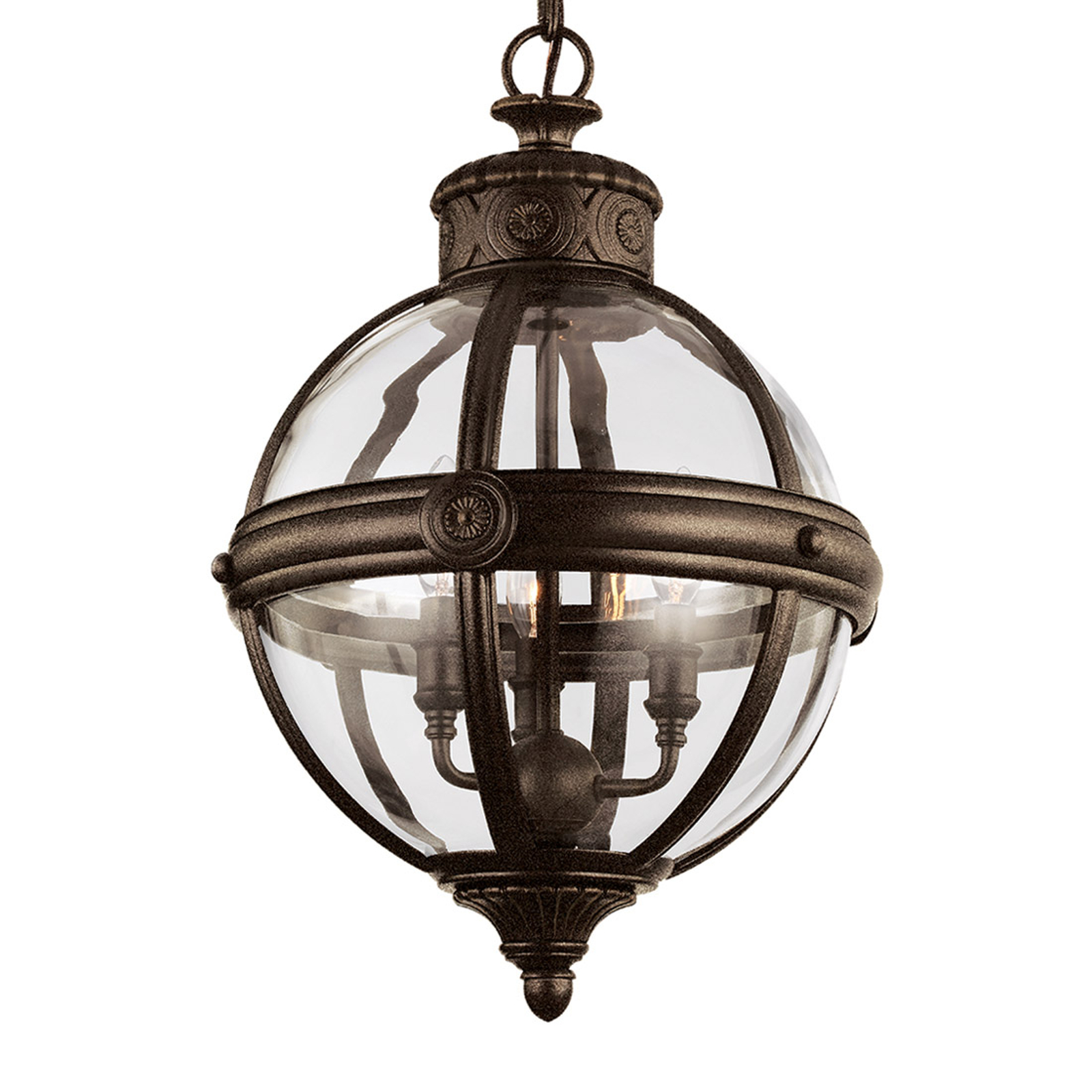 Adams hængelampe, Ø 37 cm, bronze