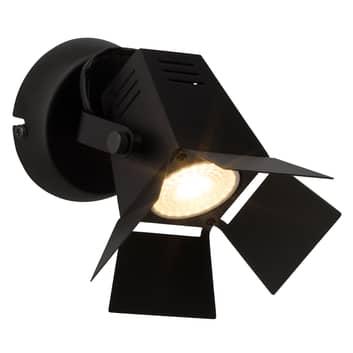 Teknisk LED væglampe Movie, sort