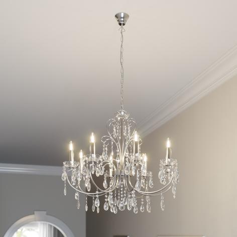 Incantevole lampadario Solveig color cromo