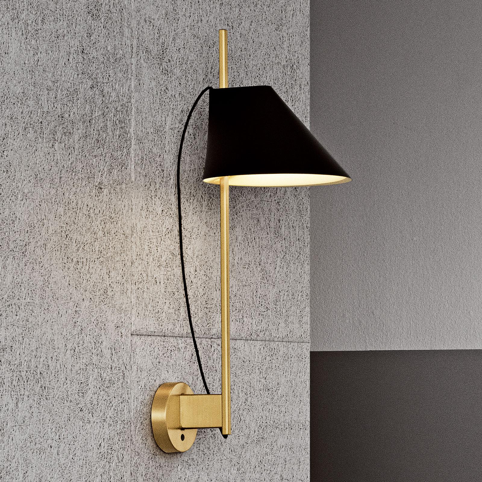 Louis Poulsen marmer-wandlamp Yuh Brass, zwart