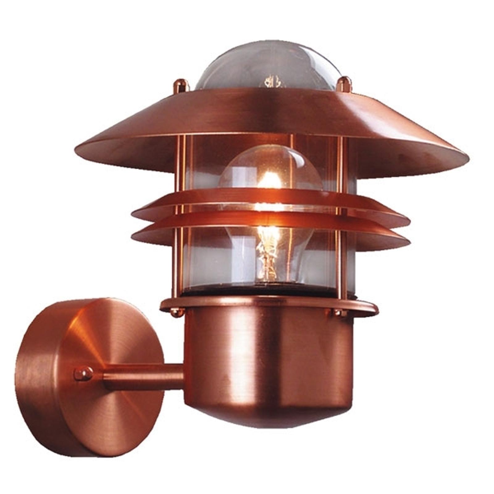 Koperkleurige wandlamp BLOKHUS