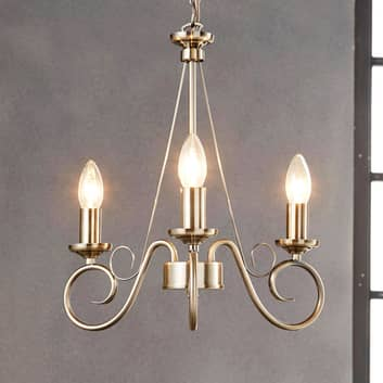 Marnia - lampadario in ottone antico a 3 luci