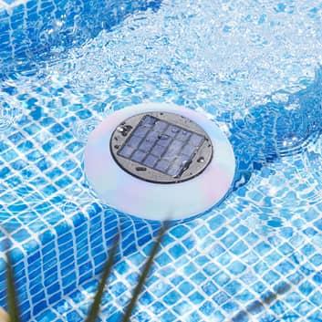 Pool Light LED-pool-lys solcelle flerfarvet, hvid