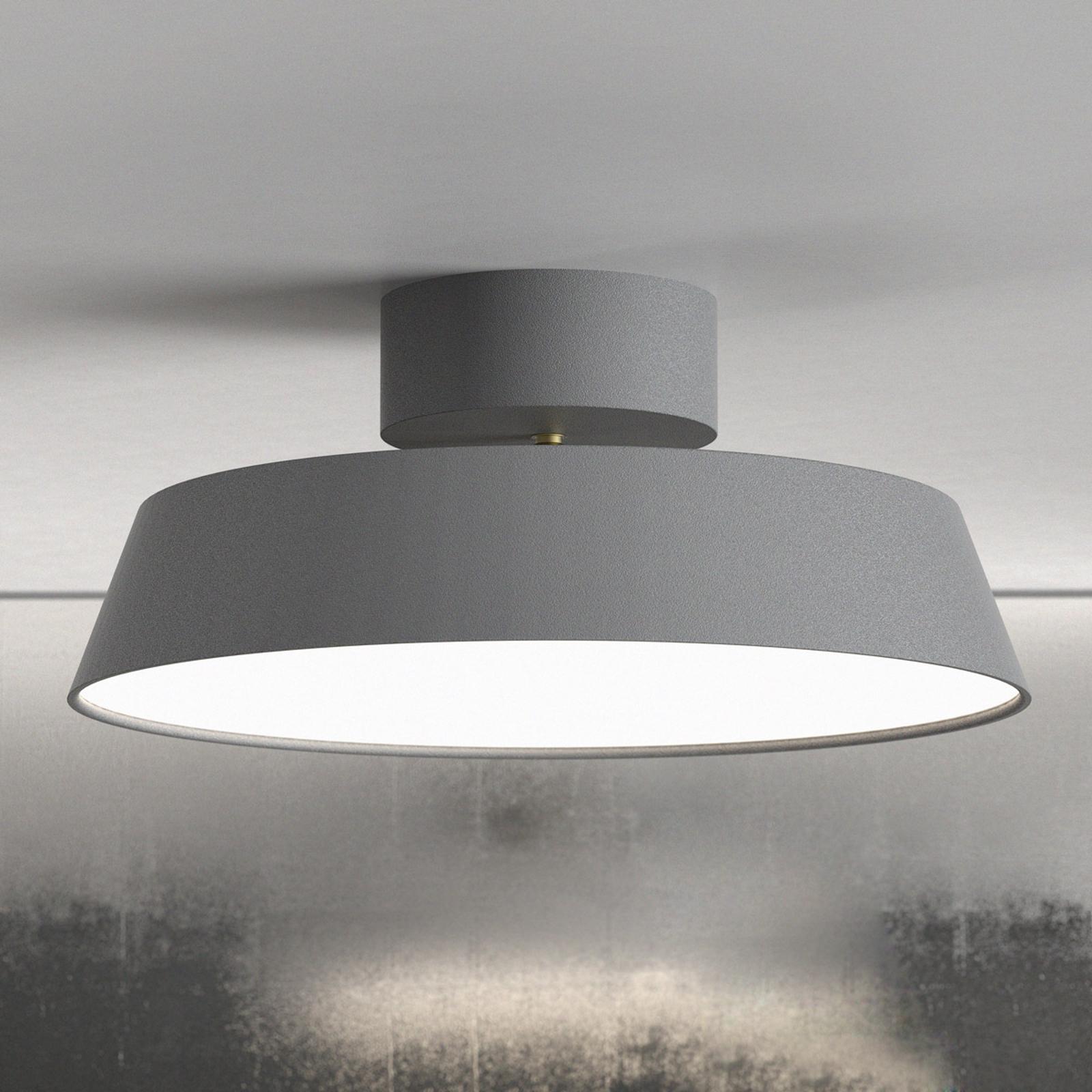 Lampa sufitowa LED Alba, obrotowa szara ściemniana