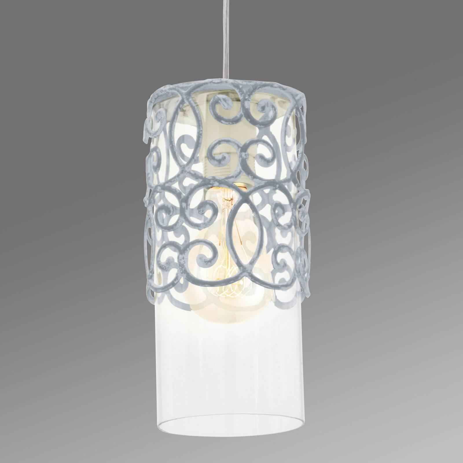 Grijsblauwe hanglamp Vintage