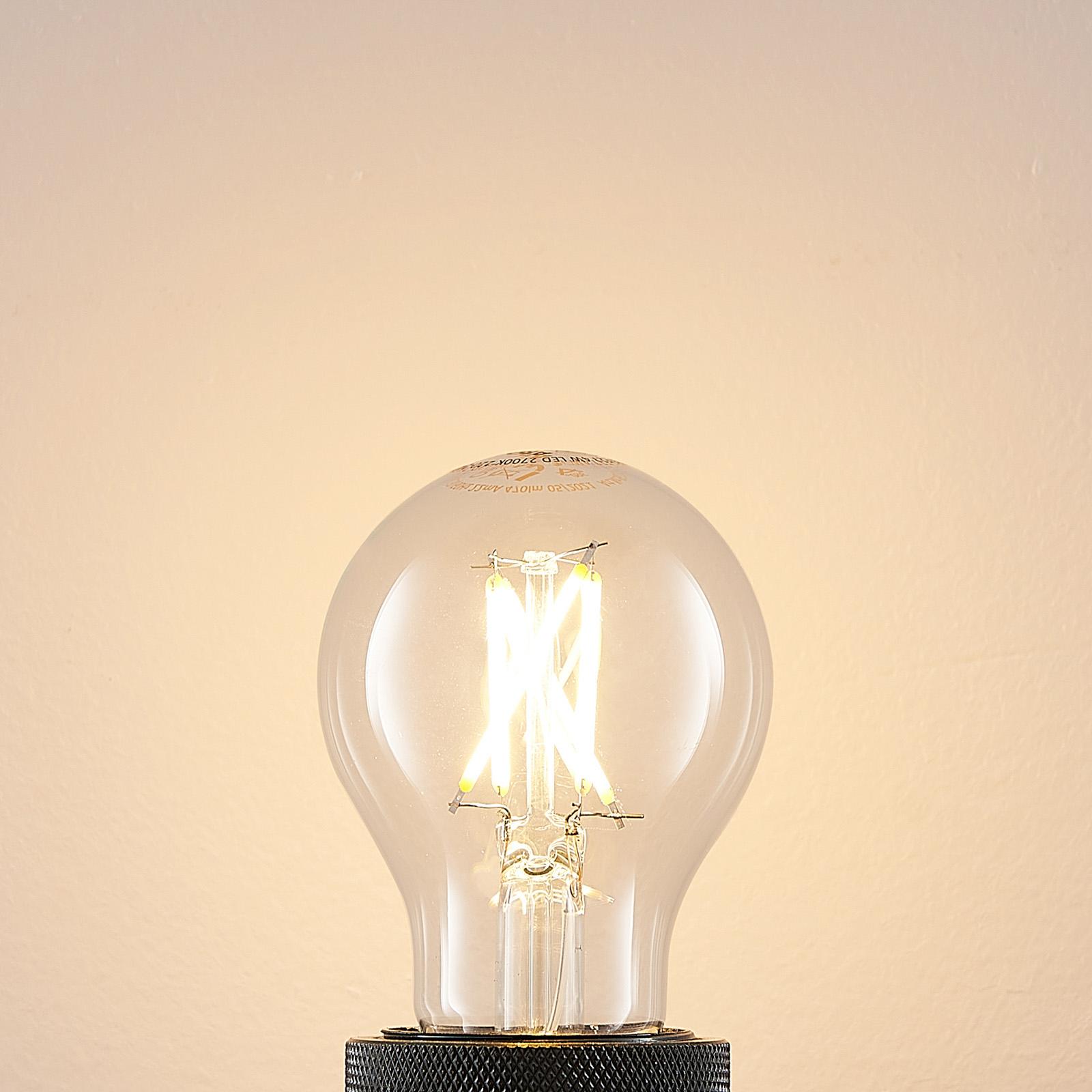 LED-pære E27 4W 2.700K filament, kan dæmpes, klar