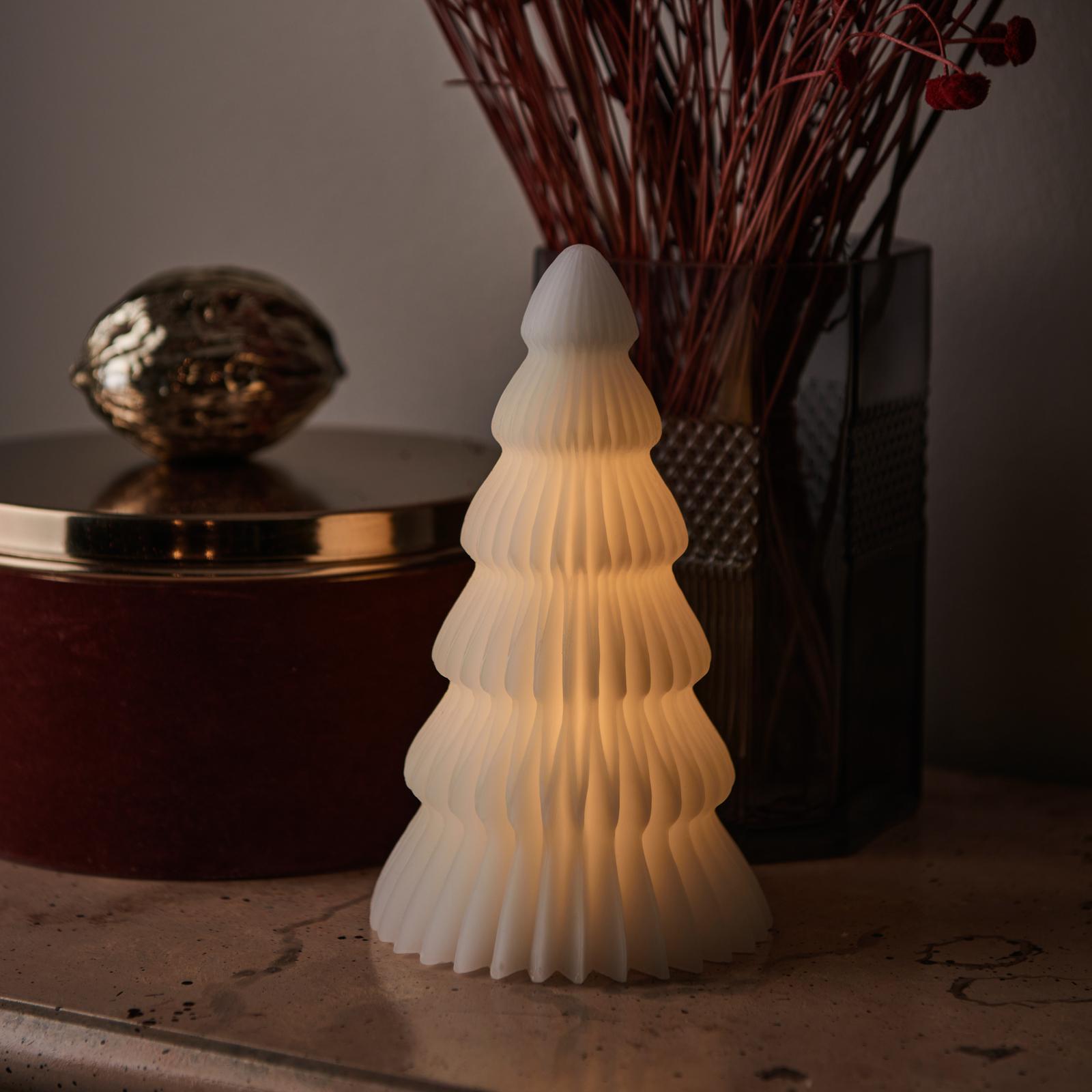 Lámpara LED Claire, árbol cera blanca 19cm