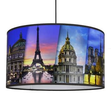 Lámpara colgante estampada Paris