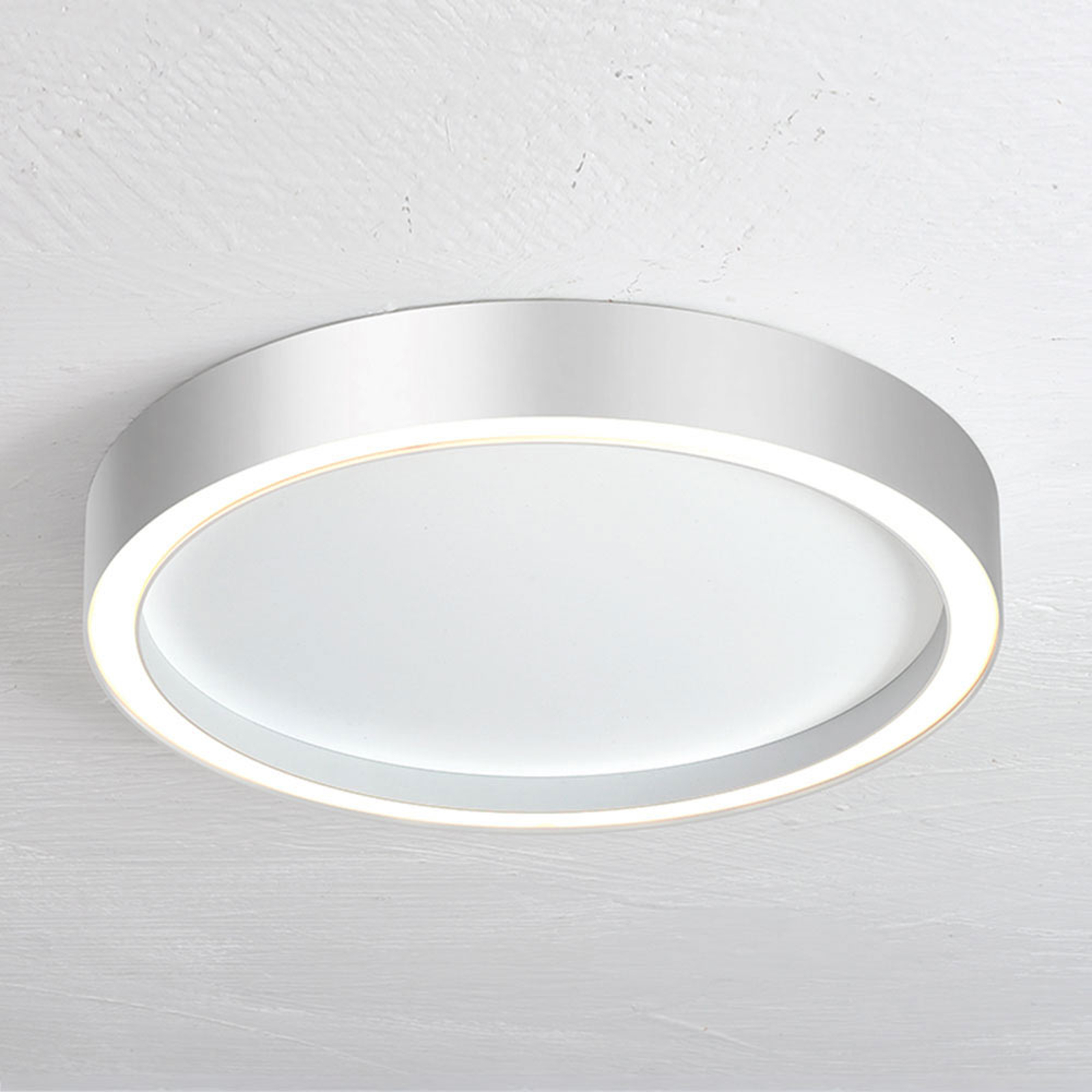 Bopp Aura plafoniera LED Ø 30 cm bianco/alluminio
