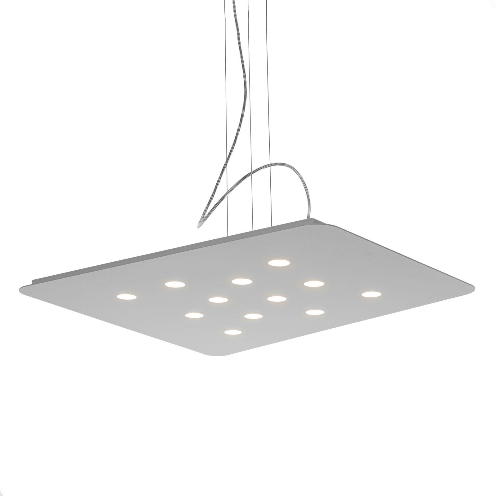 Moderne LED Hängeleuchte Fuorisquadra, weiß