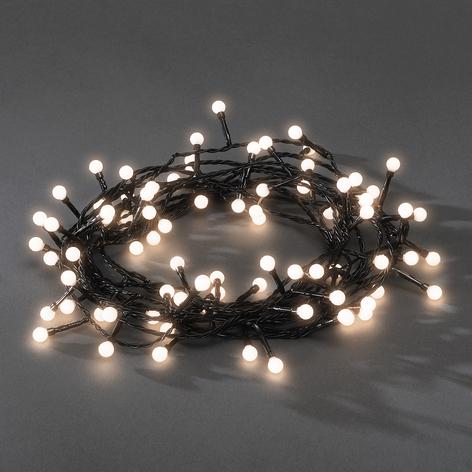 LED-Mini-Lichterkette  für außen 80fl. warmweiß