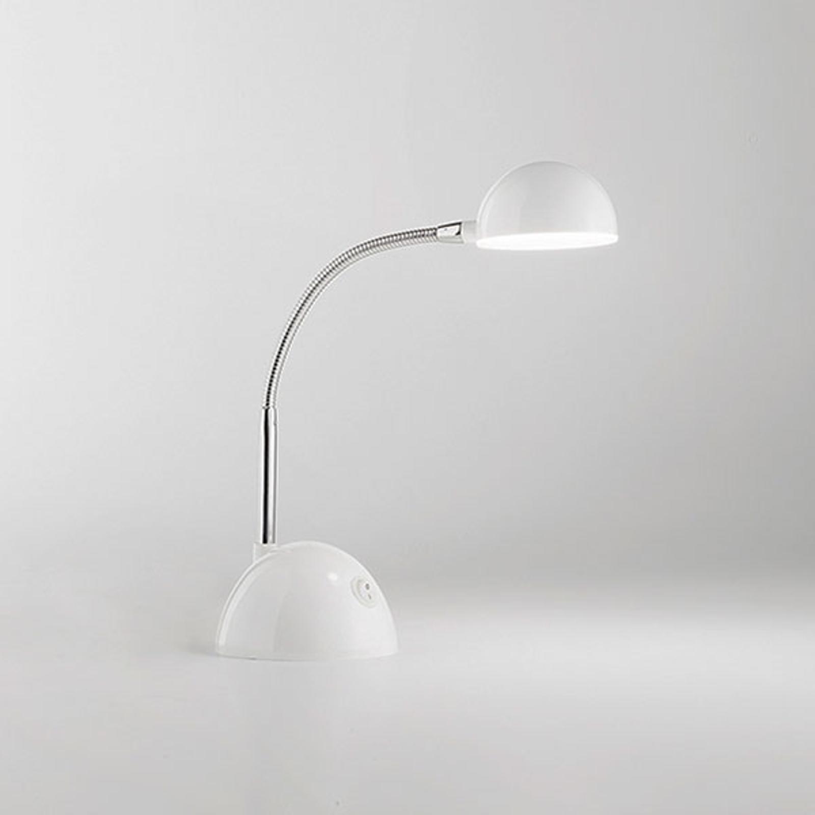 Lampe à poser LED 6512 avec bras flexible, blanc