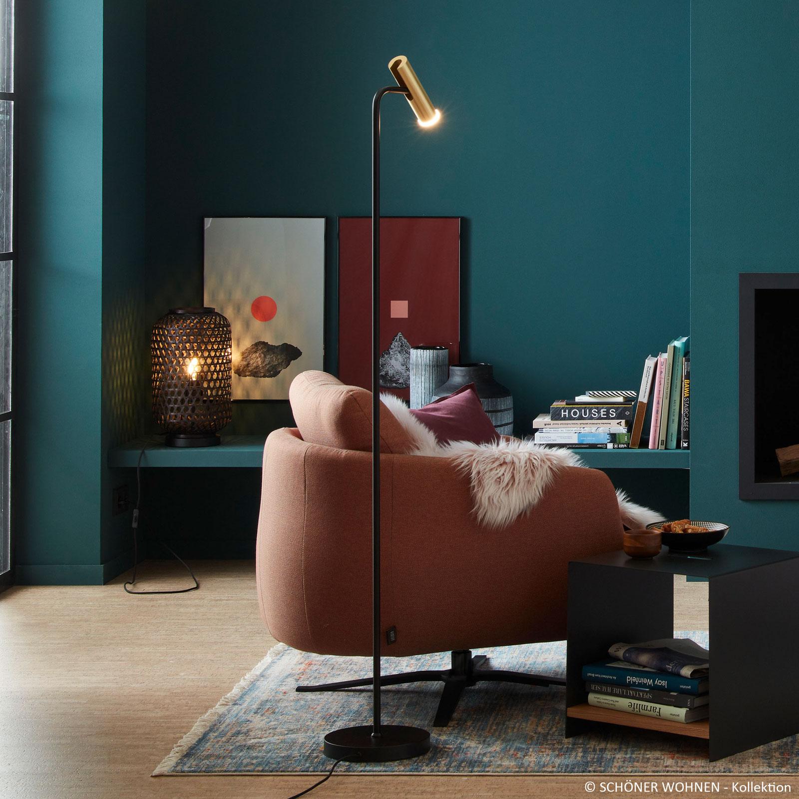 Schöner Wohnen Stina lampadaire LED, doré