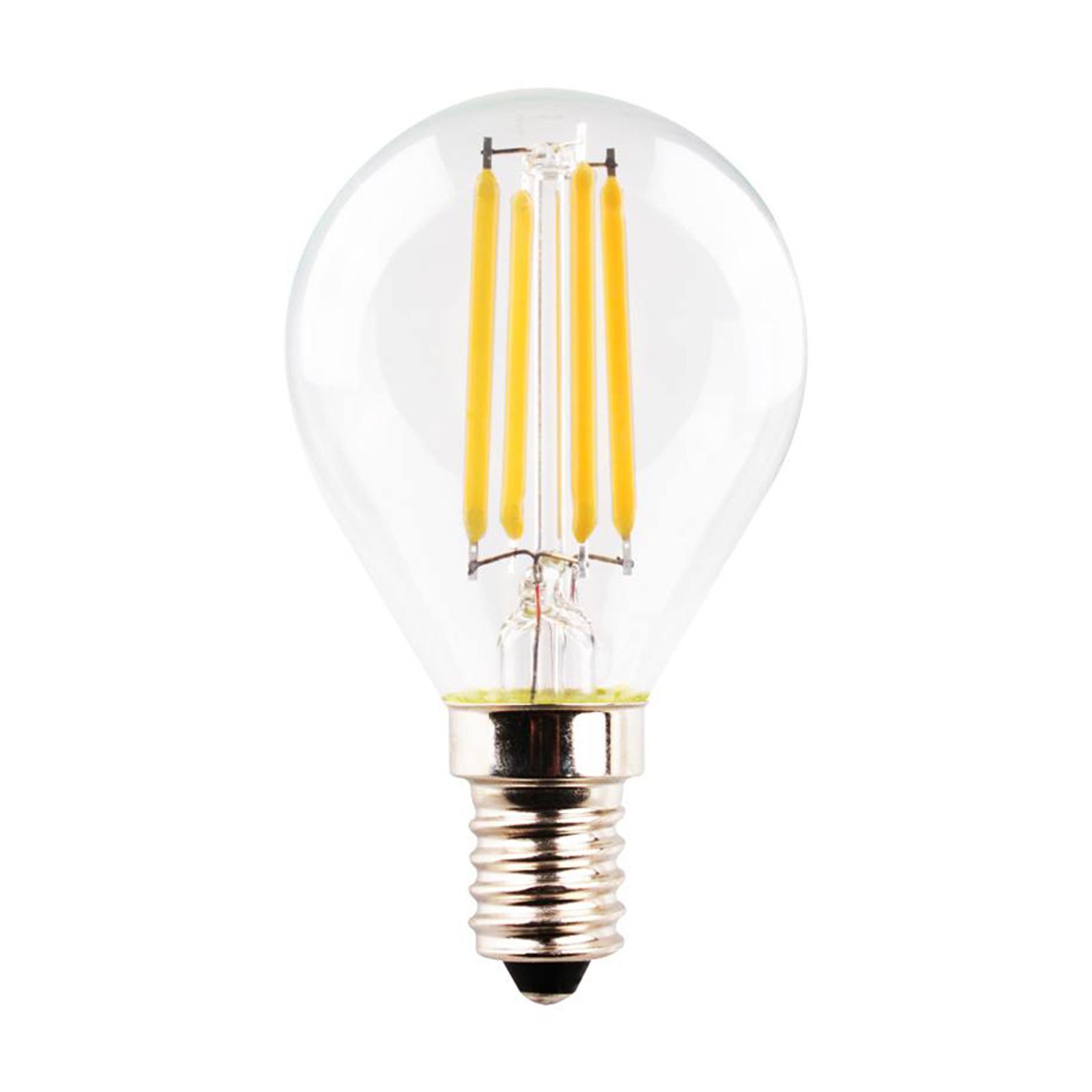 LED-pære E14 dråpe 4 W 2°700 K Filament klar
