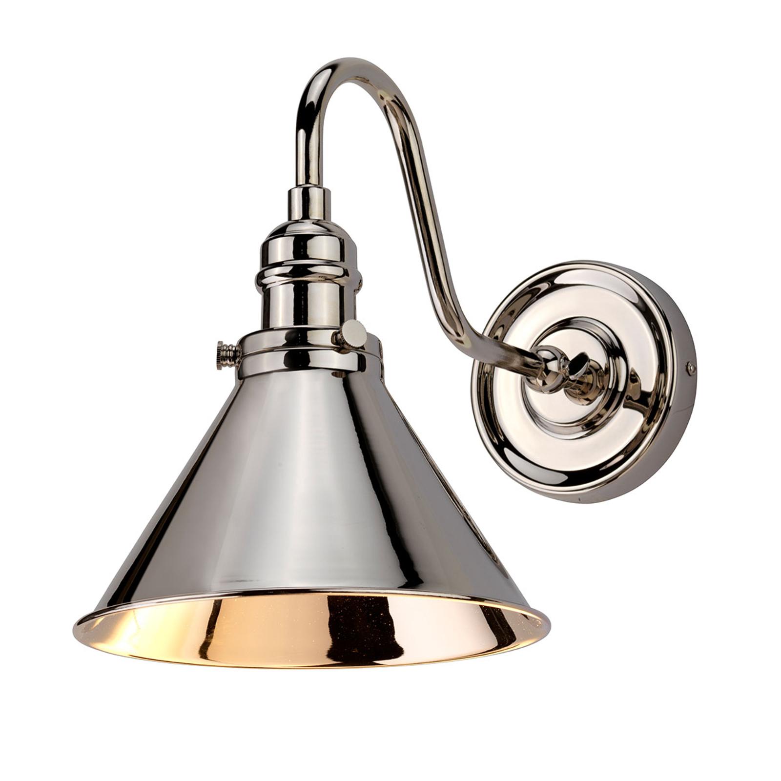 Vegglampe Provence, nikkel polert