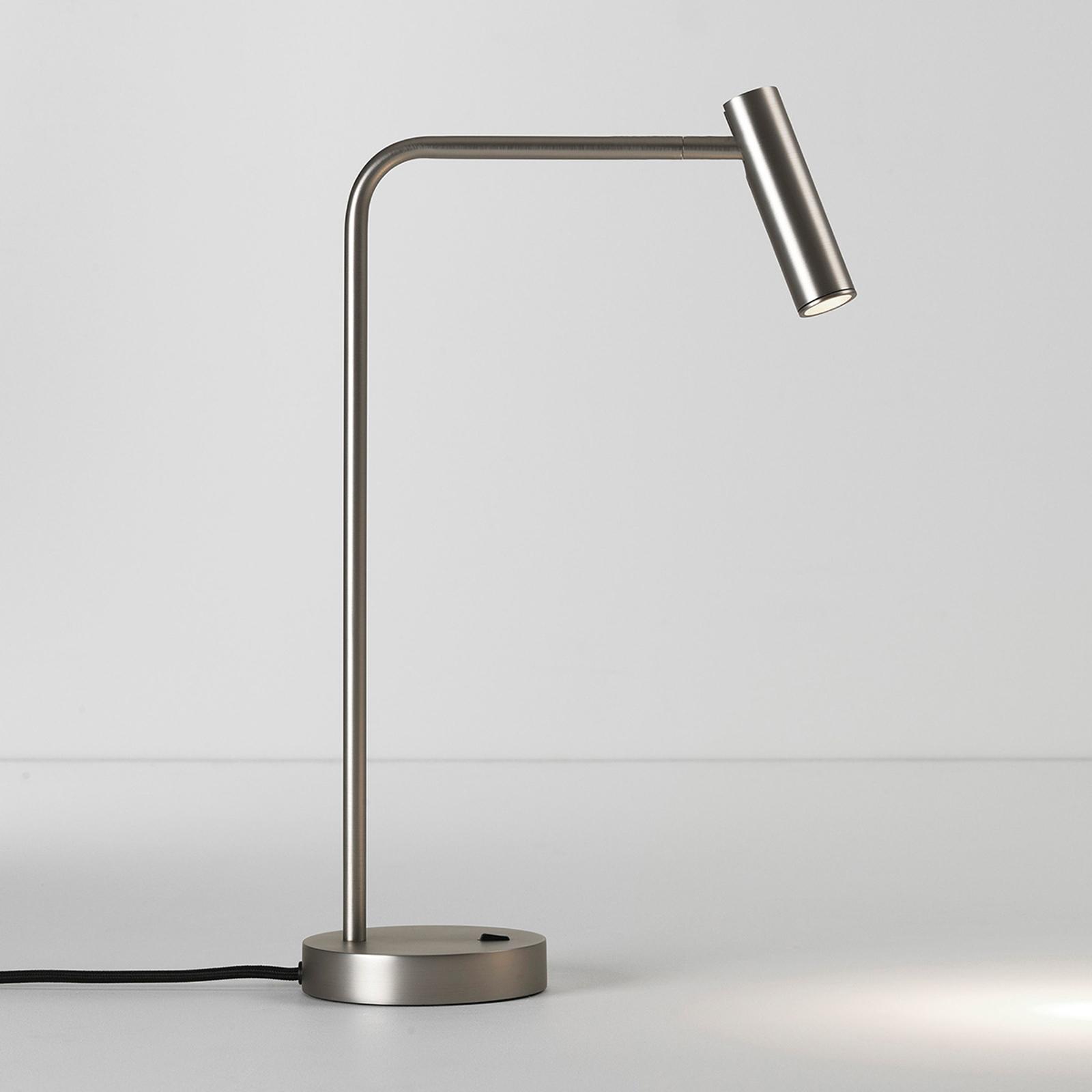 Astro Enna lampa stołowa LED nikiel matowy