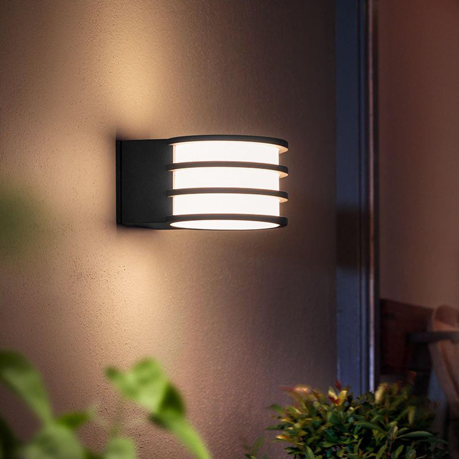 Aplique LED para exterior Lucca Philips Hue, App