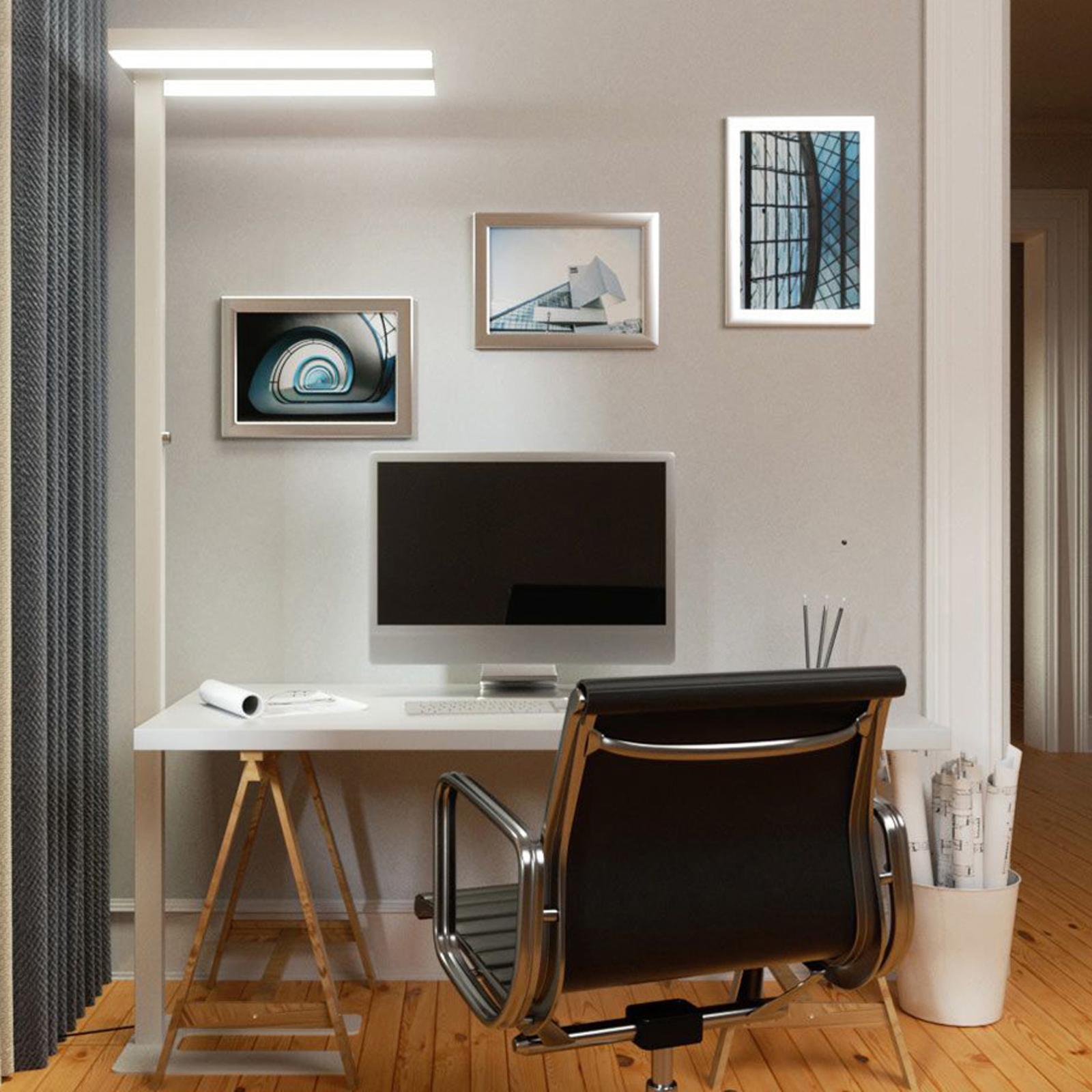 Lampa biurowa LED Logan, biała, ściemniacz, 4000K