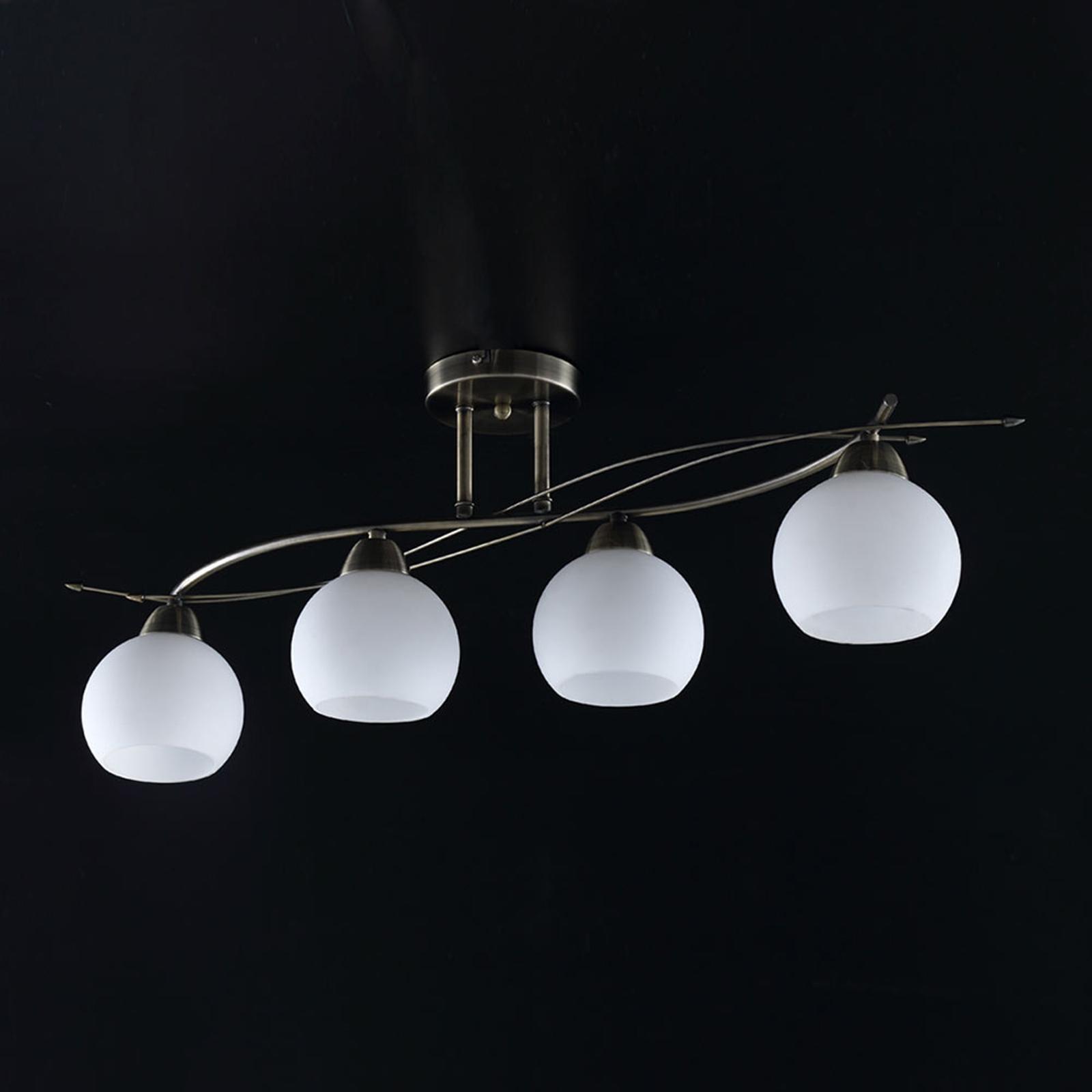 Lámpara de techoLeanda con cuatro cabezales