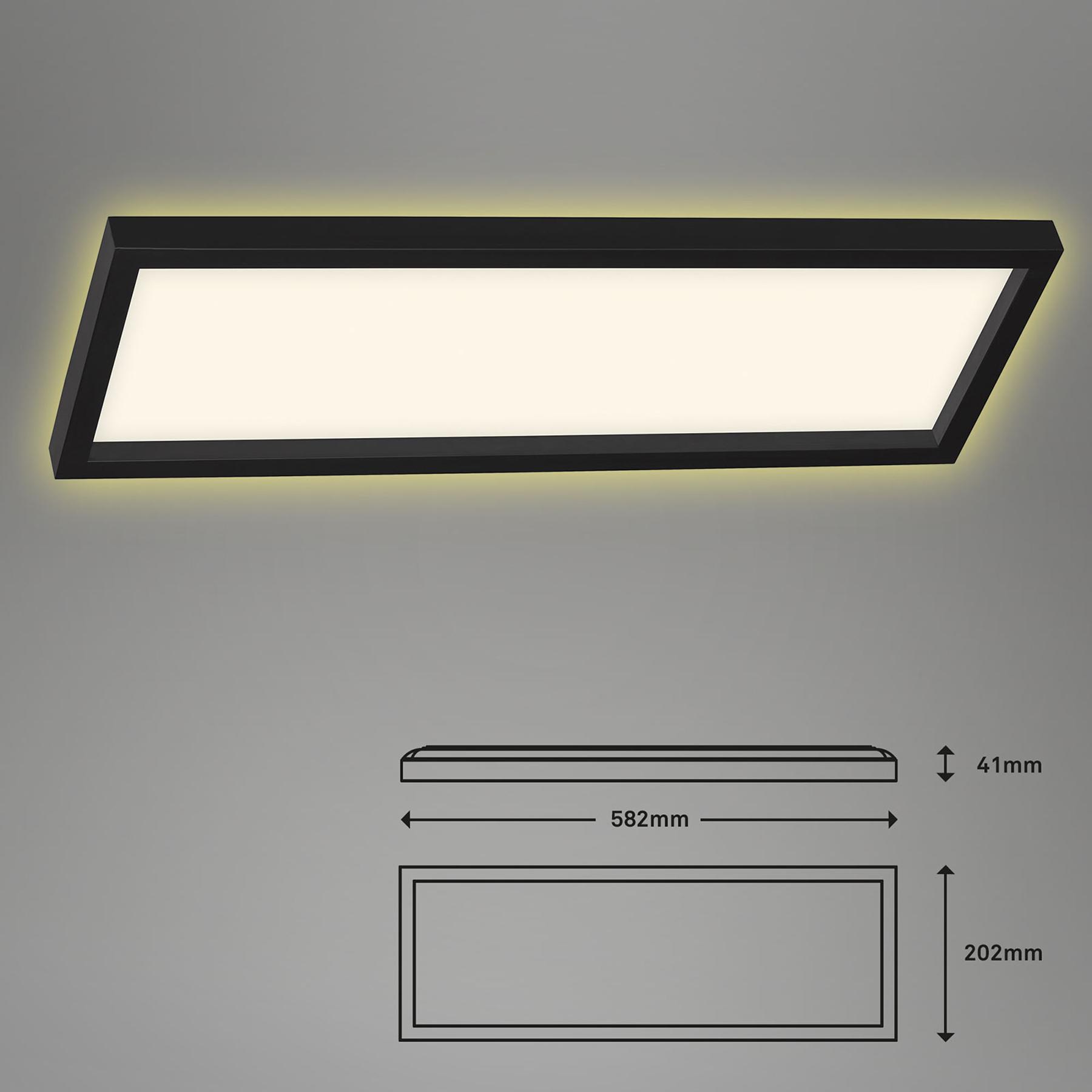 LED plafondlamp 7365, 58 x 20 cm, zwart