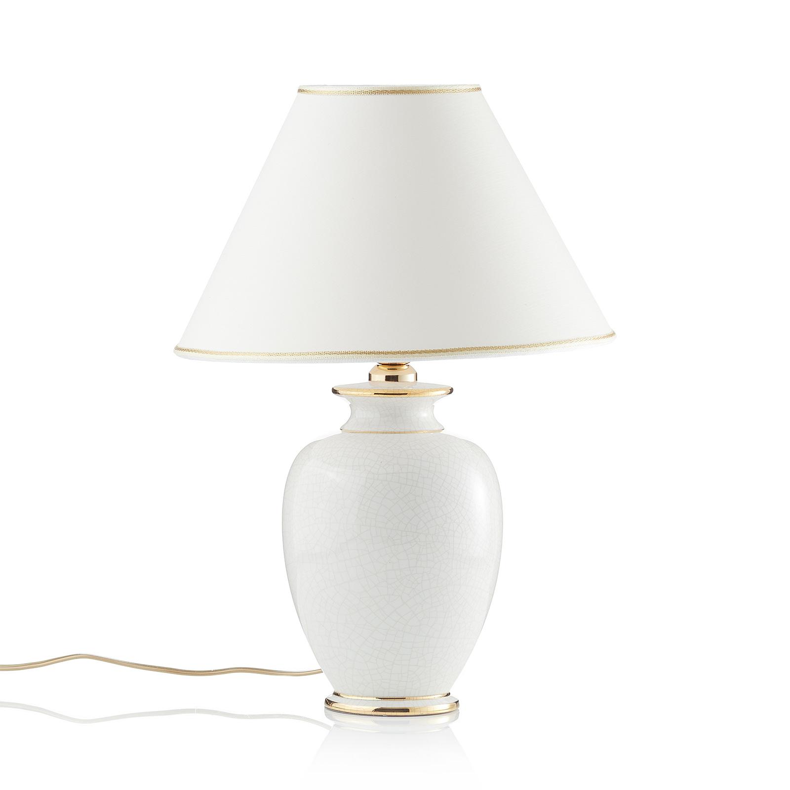 KOLARZ Giardino Craclee - weiße Tischleuchte 30 cm