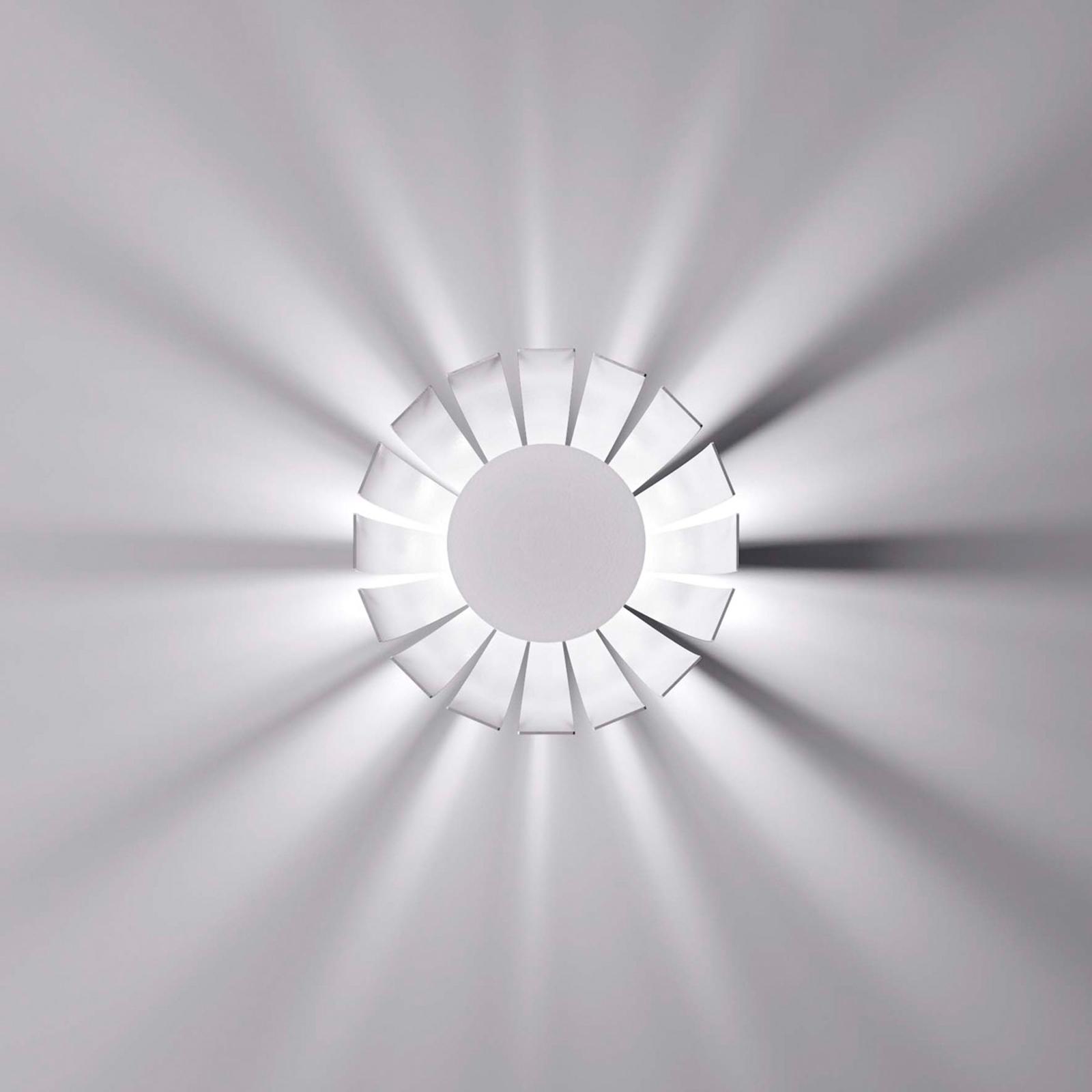 Plafoniera LED di design Loto, bianca, 20 cm