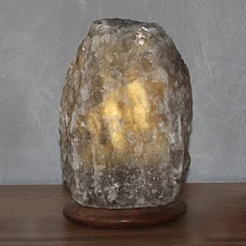 Lámpara de mesa de cristal salino Rock Grey Line