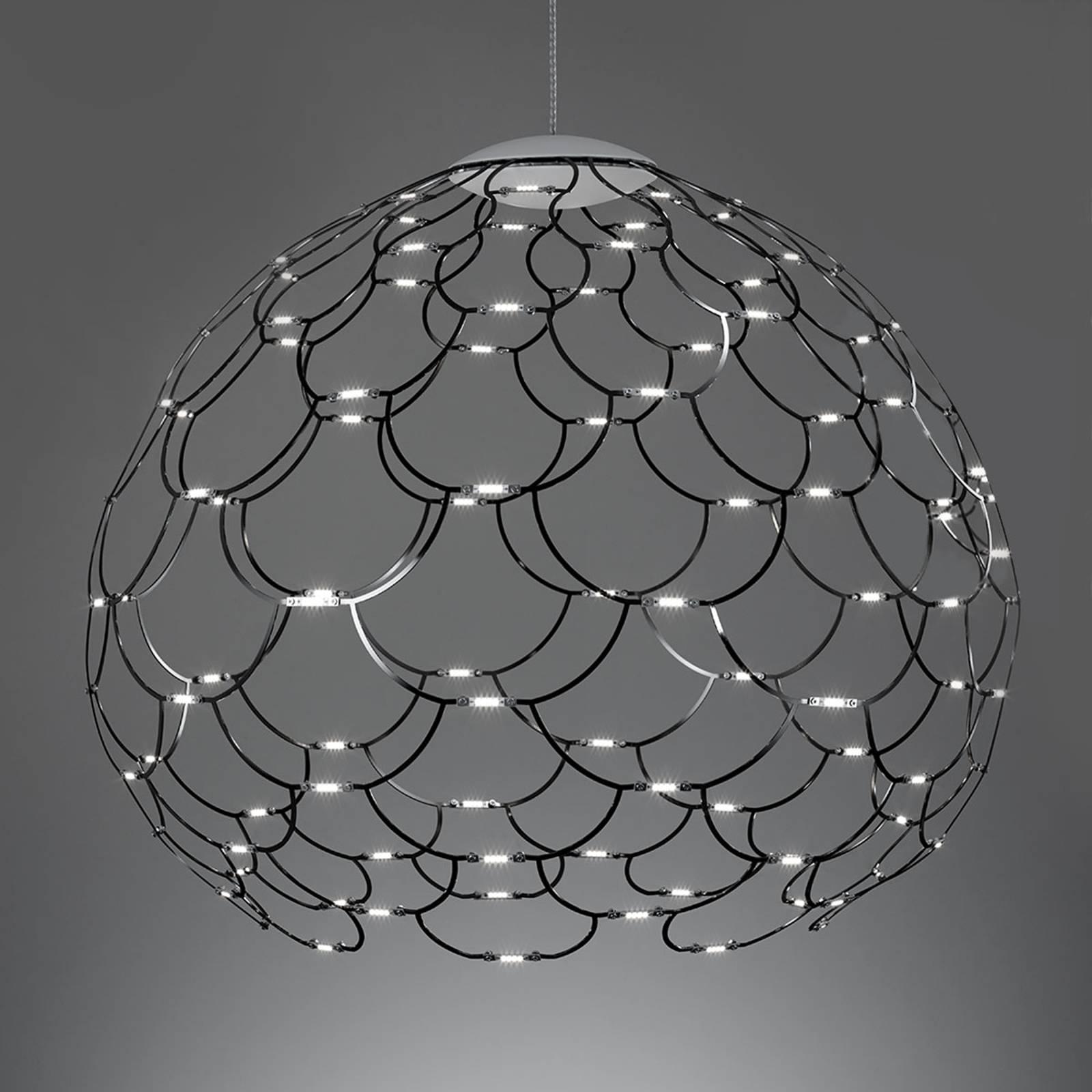 Suspension LED Lamoi noire 80cm
