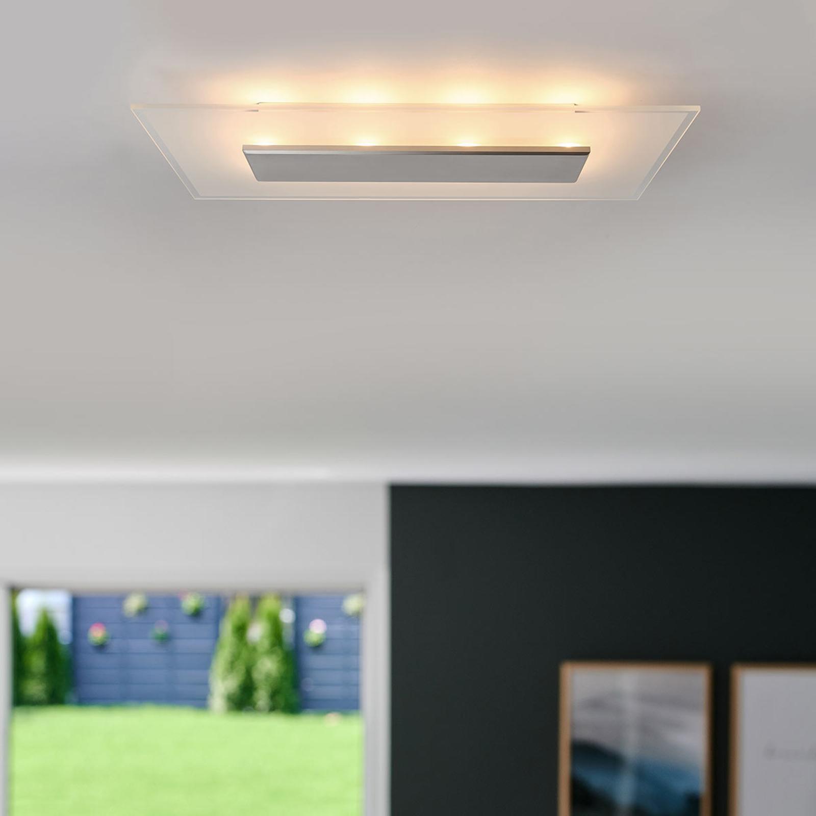 LED plafondlamp Lole met glazen kap, 29 cm