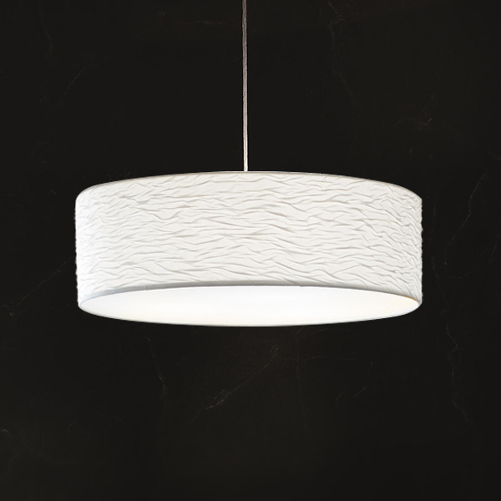 Lampa wisząca Vita P z falami, nowoczesna biel