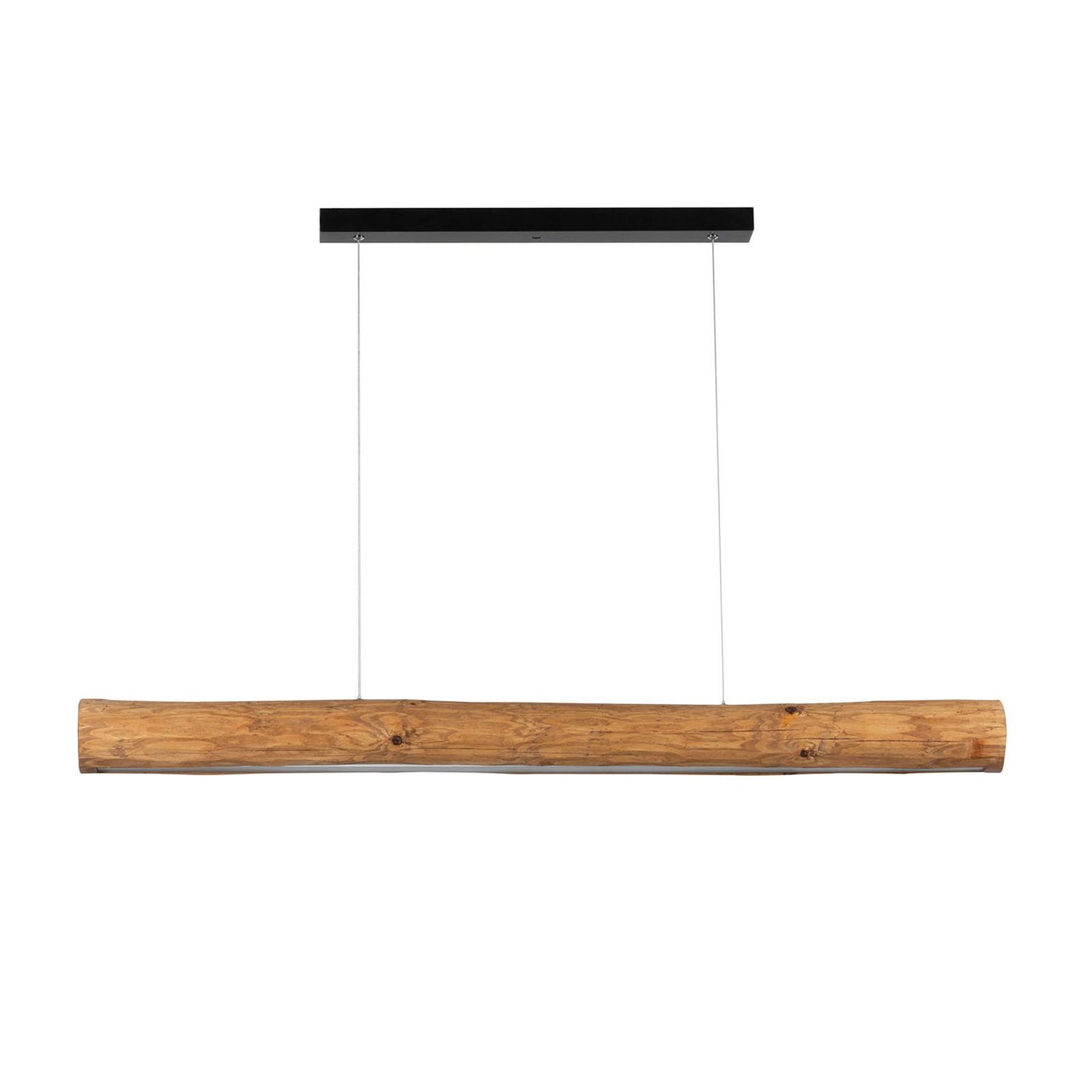 Lampa wisząca Lucas drewno sosnowe bejcowane 115cm