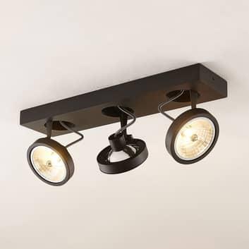 Arcchio Jorvin plafón, 3 luces, negro