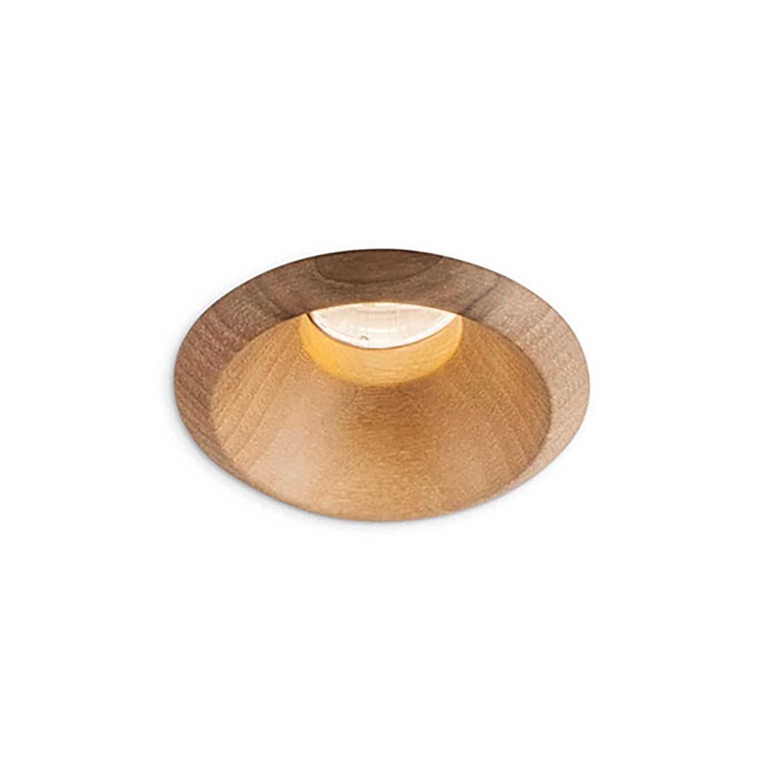 LEDS-C4 Play Raw downlight valnøtt 927 17,7W 15°