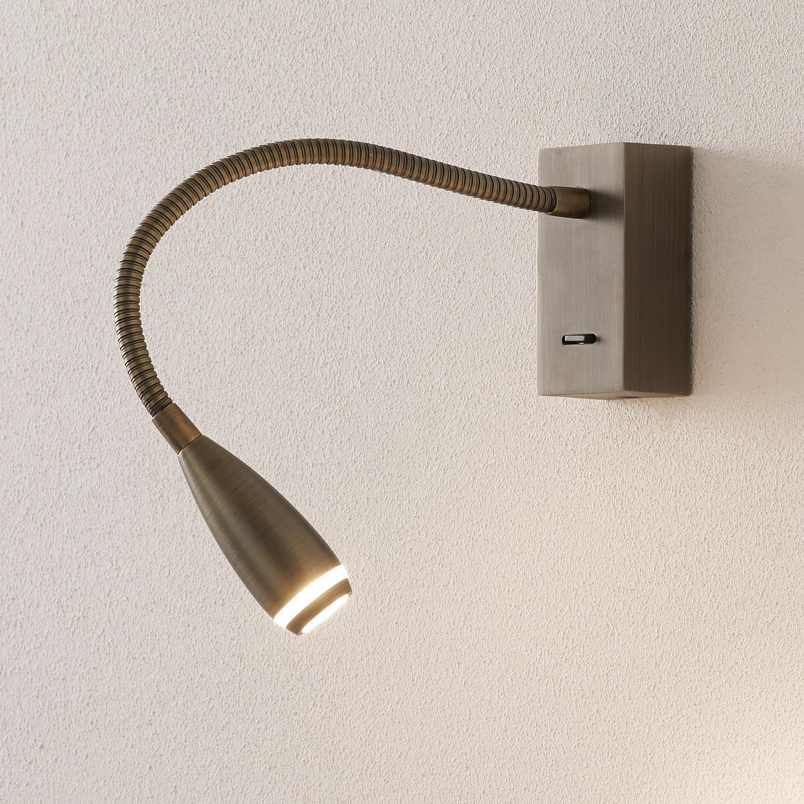 LED-Wandleuchte Clik mit Schalter, bronze