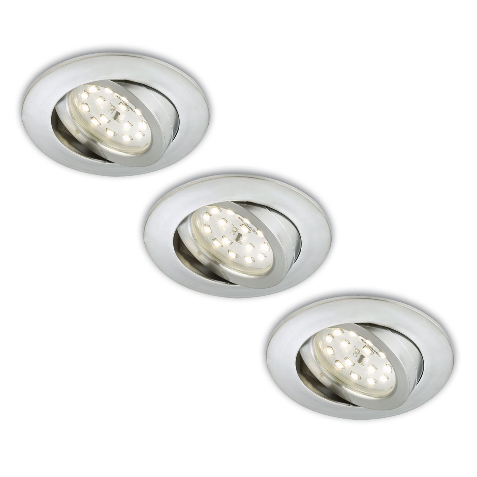 Erik zapustené LED v súprave 3 ks otočné hliník_1510286_1
