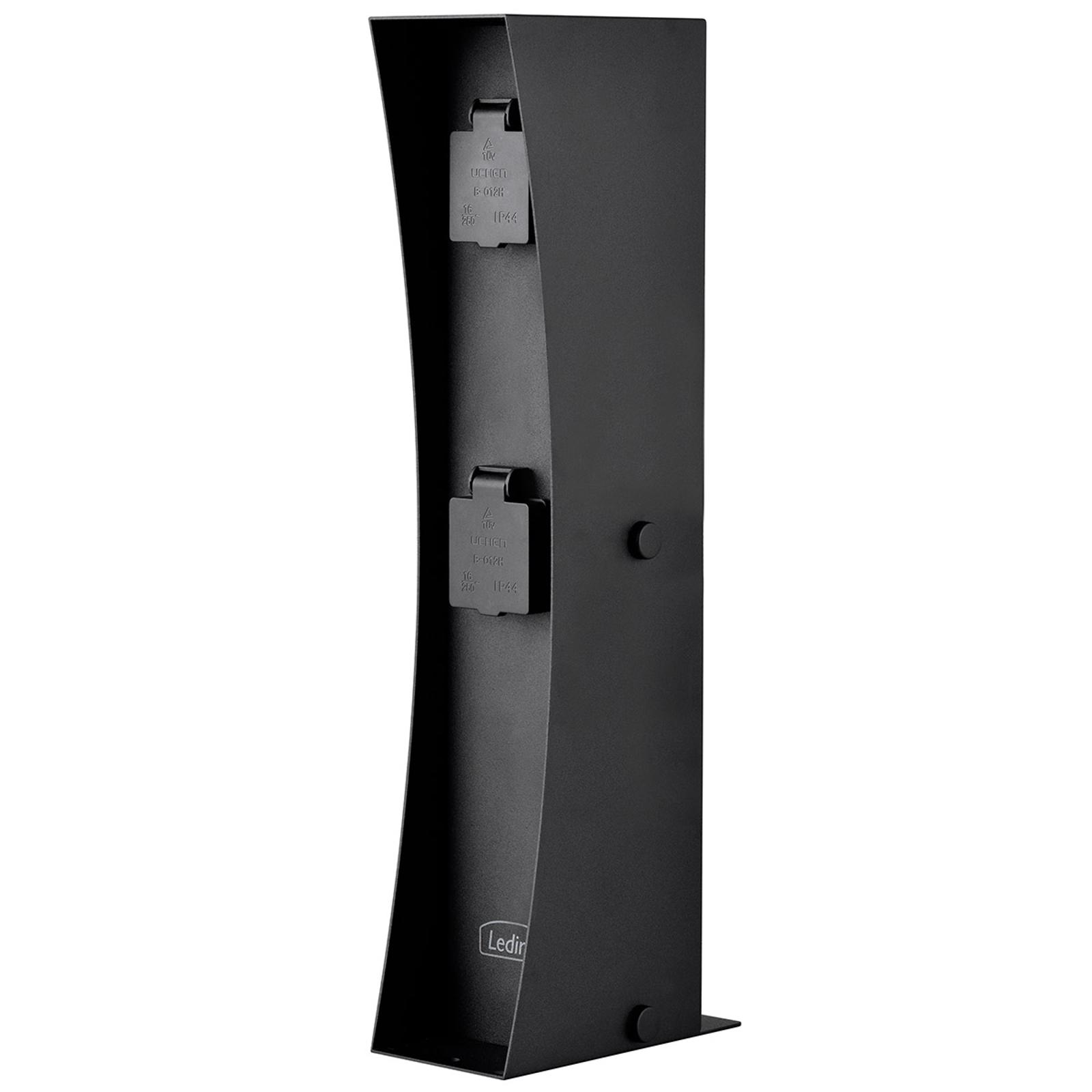 Steckdosensäule Connect D2, schwarz