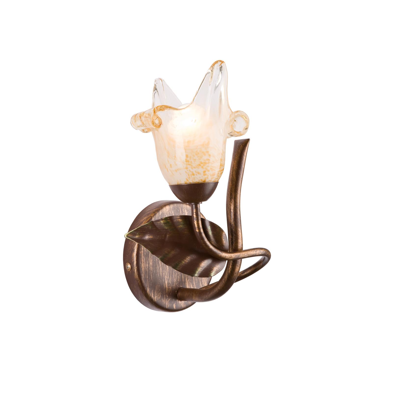 Vegglampe Siena, florentinstil, 1 lyskilde