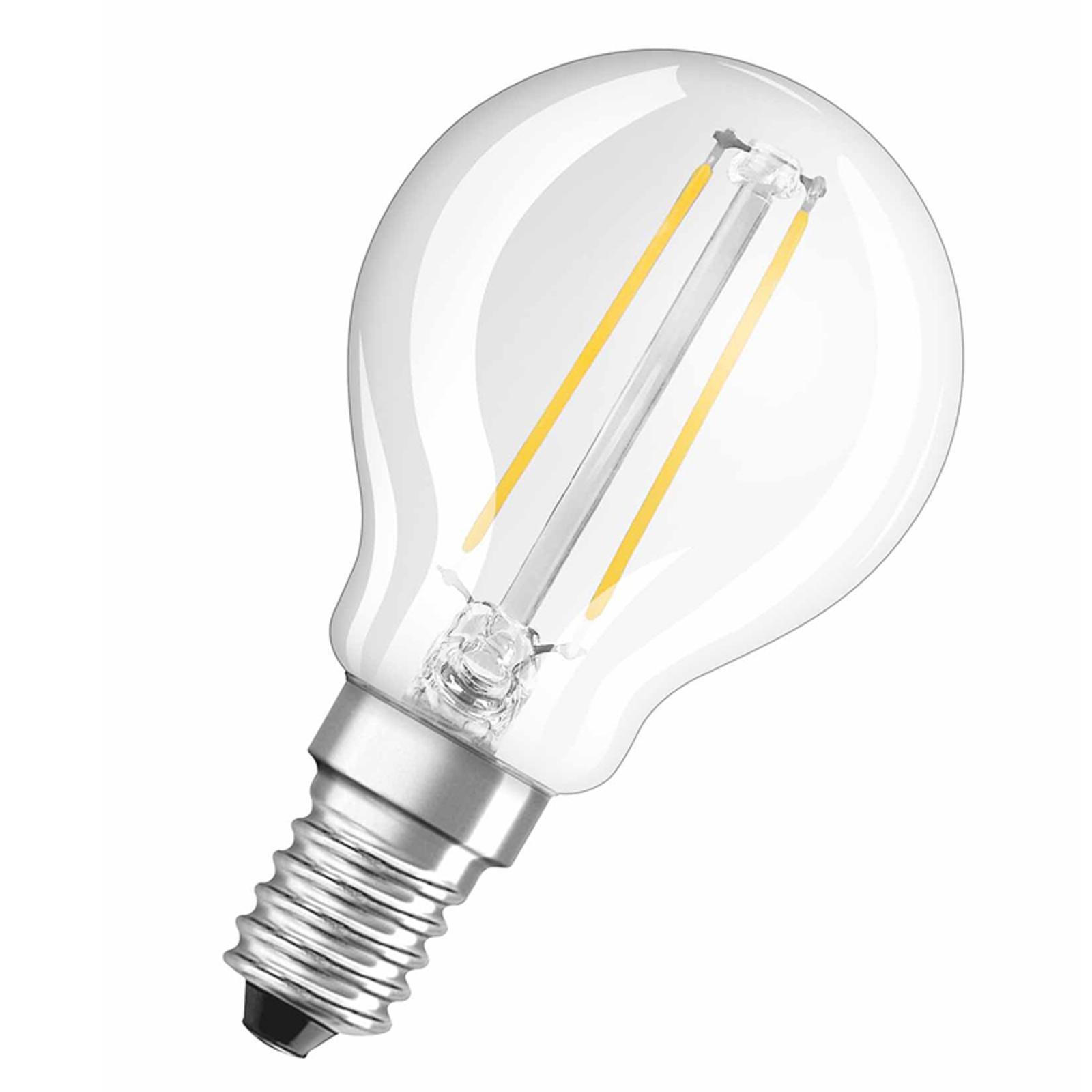 OSRAM LED-pære E14 dråper 2,5 W 827 retrofit klar