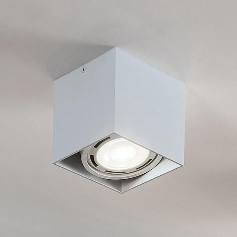 LED-alasvalo Rosalie 1-lamp., kulmikas, valkoinen