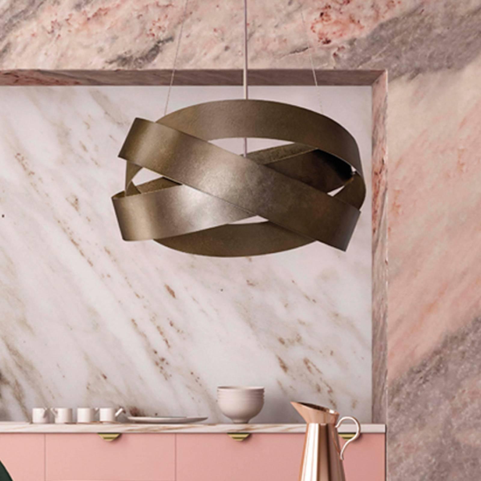 Hängeleuchte Pura, 60 cm, bronze