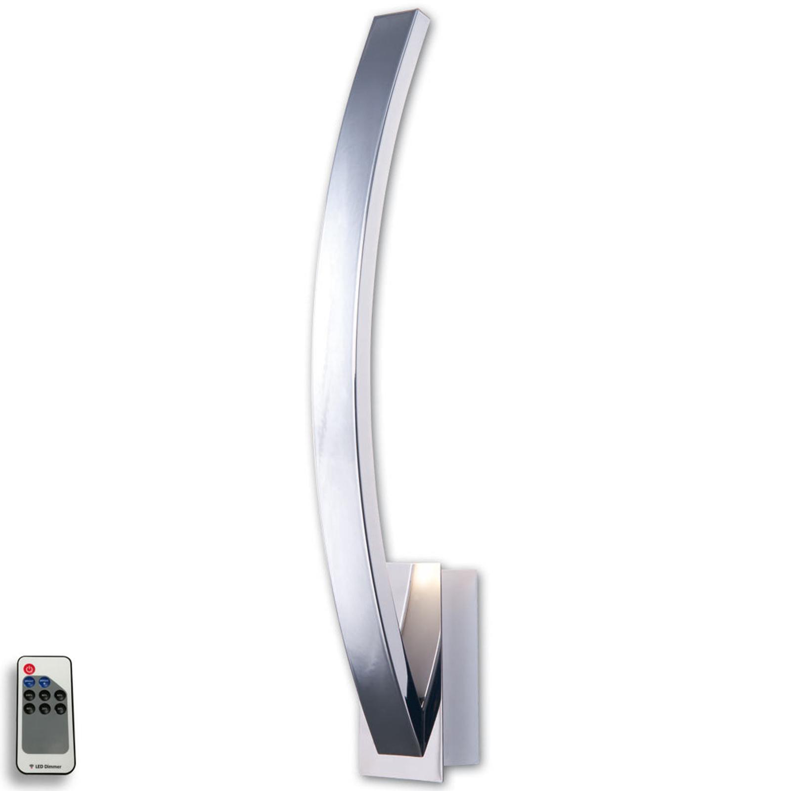 Applique LED Largo à éclairage indirect, chromée