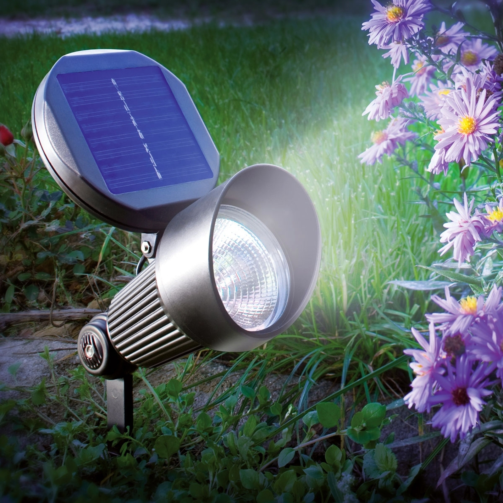 Foco solar LED de pared y suelo Spotlight