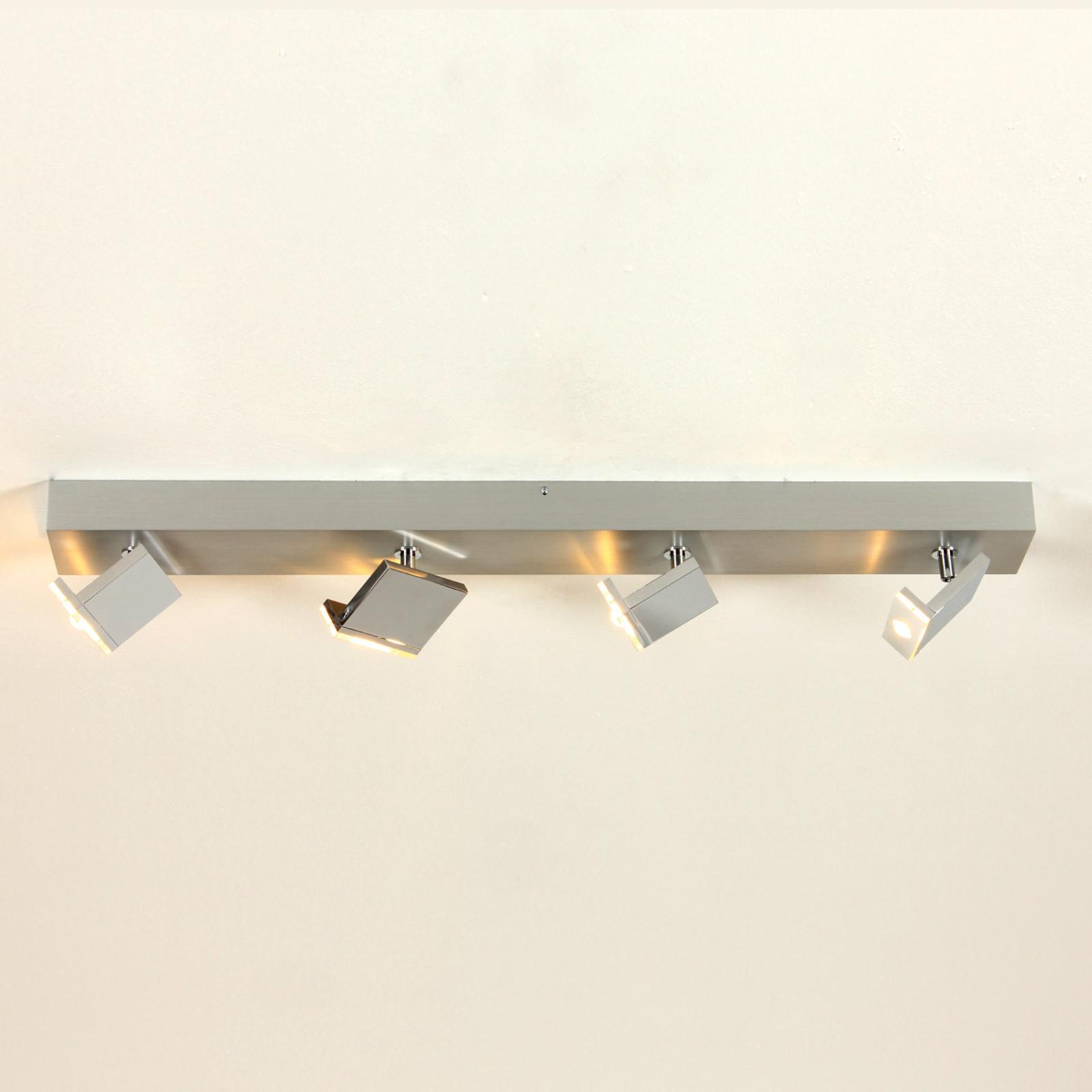 Foco LED Elle de 4 brazos, atenuable